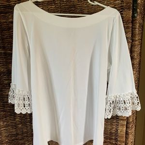 Lily Pulitzer white bell sleeve top